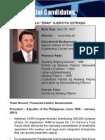 [Philippine Elections 2010] Estrada, Joseph Profile