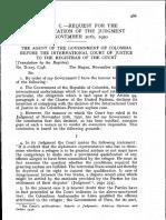 Asylum Case (ICJ Reports 1950)