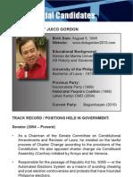 [Philippine Elections 2010] Gordon, Richard Profile
