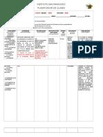Modelo de Formato Para Planes de Clases de Secundaria en Competencias
