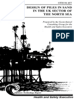Design of Piles in Sand in the UK Sector of the North