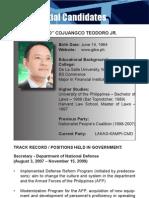 [Philippine Elections 2010] Teodoro, Gilbert Profile