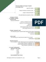 Swimming Pool Design Sheet