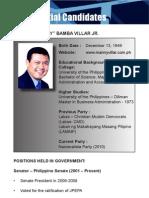 [Philippine Elections 2010] Villar, Manny Profile