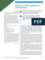 Effective of Antibiotic in Pediatric Cap