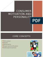 Consumer Motivation and Personality