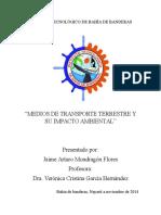 Medios de transporte terrestres y su impacto ambiental