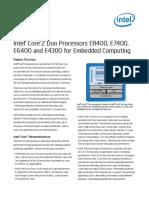 Intel® Core™2 Duo Processors E8400_E7400_E6400_E4300- Brief
