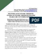 Indeks ekonomskih sloboda 2016.