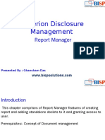 Oracle  Hyperion Disclsoure Management Report Manager