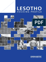 Lesotho Urban Housing Profile