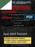 Latihan Contoh Ayat (Bmm 3103)