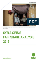 Syria Crisis Fair Share Analysis 2016