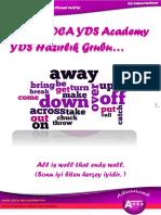 Son 10 YDS Sınavında Çıkan Phrasal Verbler