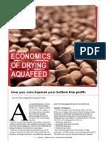 Economics of drying aquafeed