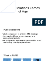 Public Relations Comes of Age-Intro