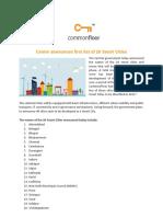 Centre Announces First List of 20 Smart Cities