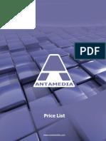 Antamedia Price List