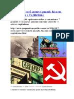 Capitalismo x Comunismo