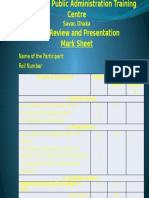 Book Review and Presentation