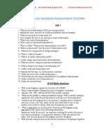 SECOND YEAR 3RD SEM DATABASE MANAGEMENT SYSTEM QUESTION BANK  FOR REGULATION 2013