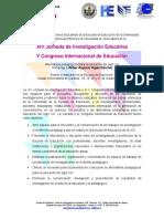 XIV Jornada de Investigación Educativa V Congreso Internacional de Educación UCV