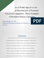 Summary Abstract - Speech Analysis