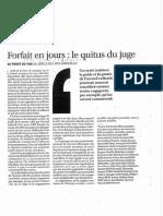 Forfait en Jour Le Quitus Du Juge