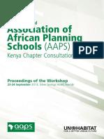 UN-Habitat and Association of African Planning Schools