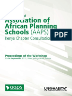 UN-Habitat and Association of African Planning Schools