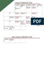 feb calendar mary poppins 2016