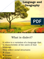Language and Geography 1