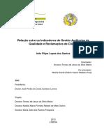 Relação Entre Os Indicadores de Gestão Auditorias Da Qualidade e Reclamações de Cliente