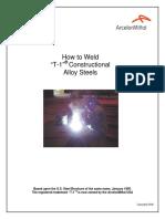 How to Weld T-1 Steel