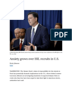 Anxiety Grows Over ISIL Recruits in U.S.