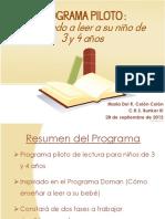 Programa Piloto de Lectura para 3 y 4 años