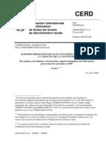 CERD Rapport France - 22 Mai 2009