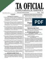 Gaceta Oficial Número 40.838 - Notilogía