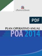 Plan Operativo Anual (POA) 2014