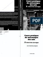 Cours Pratique de Mecanique Des Sols 2 Calcul Des Ouvrages PDF