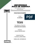 Tesis- El Suicidio