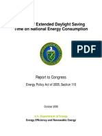 Impact of Extended Daylight Saving Time (DOE) - 2008