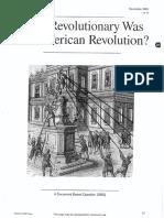 how revolutionary was the american revolution
