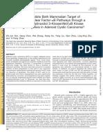 Curcumin Dually Inhibits Both Mammalian Target of Rapamycin and Nuclear Factor-kB Pathways through a Crossed Phosphatidylinositol 3-Kinase/Akt/IkB Kinase Complex Signaling Axis in Adenoid Cystic Carcinoma