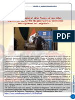 Naturaleza Juridica y Valor de Las Investigaciones Parlamentarias