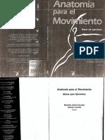 Anatomia Para El Movimiento Tomo 2 autora Blandine Calais-Germain