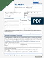 VDK - Beitrittserklärung
