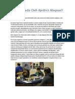 3era Jornada Crónica Club Ajedrez Alaquas