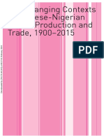 The Changing Contexts of Chinese-Nigerian Textile Production and Trade, 1900‒2015