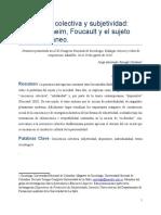 Ponencia Conciencia Colectiva y Subjetividad. Entre Durkheim, Foucault y el Sujeto Contemporáneo. J. Ravagli.docx